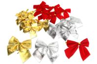 Gros nœuds en tissu - Set de 20 - Rubans et adhésifs Noël - 10doigts.fr