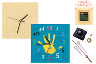Horloge carrée en bois - Horloges - 10doigts.fr