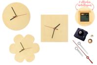 Horloges en bois - Set de 3 formes assorties - Horloges - 10doigts.fr