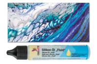 Huile de silicone pour pouring medium - 30 ml - Peinture Marbling - 10doigts.fr