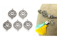 Intercalaires ronds - Lot de 5 - Perles intercalaires & charm's - 10doigts.fr