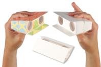 Jumelles enfantine à décorer - Support blanc - 10doigts.fr