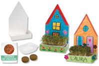 Maisons jardinières - Lot de 6 - Support blanc - 10doigts.fr