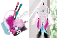 Kit attrape-rêves - couleurs vives - Nouveautés - 10doigts.fr
