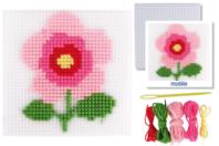 Kit canevas Fleur - Canevas - 10doigts.fr