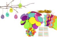 Kit création œufs de pâques - 90 suspensions - Kits activités de Pâques - 10doigts.fr