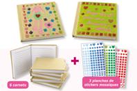 """Carnets """"Mes premières mosaïques"""" - Kit de 6 réalisations - Carnets - 10doigts.fr"""