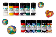 Peinture effet Marbling - 6 flacons de 20 ml - Peinture Marbling - 10doigts.fr
