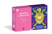 Coffret Animaux - 3 tableaux à pailleter - Paillettes à saupoudrer - 10doigts.fr