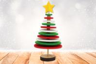 Kit sapin de Noël en feutrine - Kits et Activités de Noël - 10doigts.fr