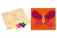 String Art - Kit Papillon - String Art - 10doigts.fr