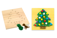 String Art - Kit Sapin de Noël - String Art - 10doigts.fr