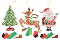 Suspension de Noël avec mosaïques - Kits et Activités de Noël - 10doigts.fr