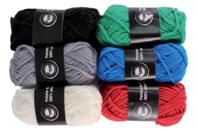 Set de 6 pelotes de laine polyester, couleurs classique - Laine - 10doigts.fr