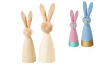 Lapins en bois - Set de 2 - Animaux 3D - 10doigts.fr