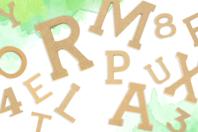 Lettres et chiffres en bois - 5 cm - Motifs brut - 10doigts.fr