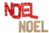 """Lettres """"NOEL"""" en carton papier mâché - Lettres et Formes - 10doigts.fr"""