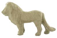 Lion en papier mâché 12 cm - Animaux en papier mâché - 10doigts.fr