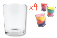 Photophores en verre - Lot de 4 - Supports en Verre - 10doigts.fr
