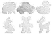Plaques formes XXL - Set de 6 formes - Perles fusibles à repasser - 10doigts.fr