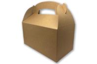 Boites à goûter en carton blanc ou kraft - Lot de 6 - Boîtes - 10doigts.fr