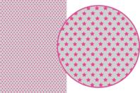 Magic Paper auto-adhésif Etoiles roses sur fond gris - Magic Paper - 10doigts.fr
