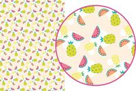 Magic Paper auto-adhésif Fruits exotiques - Magic Paper - 10doigts.fr