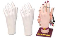 Main en polystyrène - Bijoux, bracelets, colliers - 10doigts.fr