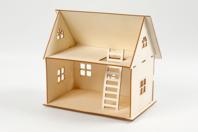 Kit maison 3D à construire  - Maquettes en bois - 10doigts.fr