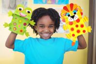 Marionnettes animaux - Set de 5 - Kits activités jeux à fabriquer - 10doigts.fr