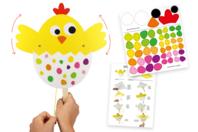Marionnette poussin articulé - Kits activités Pâques - 10doigts.fr