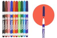 Marqueurs textiles pointe fine - 10 couleurs - Feutres Marqueurs Textiles - 10doigts.fr
