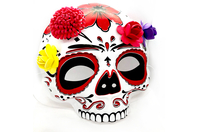 Demi masque tête de mort - Halloween - 10doigts.fr