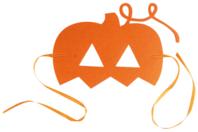 Masque citrouille en feutrine épaisse - Halloween - 10doigts.fr