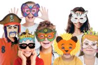 Masques pré-dessinés à colorier - Mardi gras, carnaval - 10doigts.fr