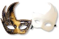 Masque Vénitien en papier comprimé - Masques - 10doigts.fr