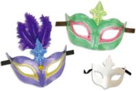 """Masque vénitien rigide forme """"couronne"""" - Masques - 10doigts.fr"""