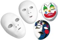 Masques blancs à décorer - Taille enfant ou adulte au choix - Mardi gras, carnaval - 10doigts.fr