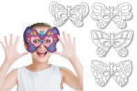 Masques à colorier Papillons - Set de 4 - Mardi gras, carnaval - 10doigts.fr