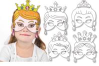 Masques princesses à décorer - Set de 4 - Mardi gras, carnaval - 10doigts.fr