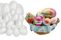 Oeufs en polystyrène - Set de 62 oeufs - Formes de fêtes - 10doigts.fr