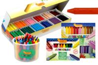 Maxi crayons cire ultra résistants - Crayons cire - 10doigts.fr