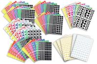 Gommettes assorties - Set de 7000 - Gommettes Formes Géométriques - 10doigts.fr
