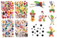Kit création de personnages en gommettes Nature - Kits activités Nature - 10doigts.fr