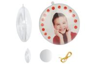Médaillon plat 3 en 1 à suspendre - Plastique Transparent - 10doigts.fr