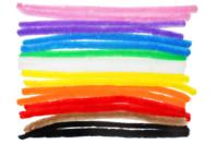 Méga chenilles couleurs vives - Set de 18 - Chenilles, cure-pipe - 10doigts.fr