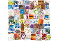 Méga Pack de 48 serviettes spéciale vernis-collages - Papiers Vernis-collage - 10doigts.fr