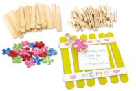 Pense-Bête à fabriquer - Kit pour 12 réalisations - Kits activités sur bois - 10doigts.fr