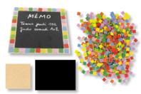 Mémo ardoise mosaïques - Set de 6 réalisations - Kits Supports et décorations - 10doigts.fr