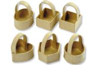 Mini paniers en carton - Set de 6 - Pots, vases, paniers, sacs - 10doigts.fr